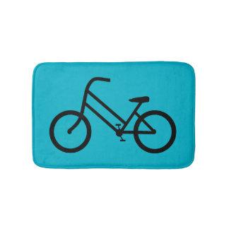 A bicicleta das mulheres tapete de banheiro