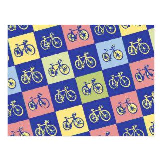 a bicicleta esquadrou o teste padrão cartão postal