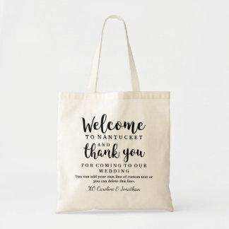 A boa vinda Wedding e agradece-lhe saco do Bolsa Tote