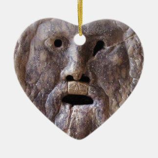 A boca da escultura de Roma da verdade Ornamento De Cerâmica Coração
