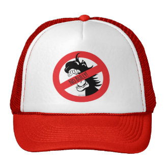 A bolota morde o chapéu das intimidações boné