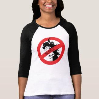A bolota morde o t-shirt das intimidações