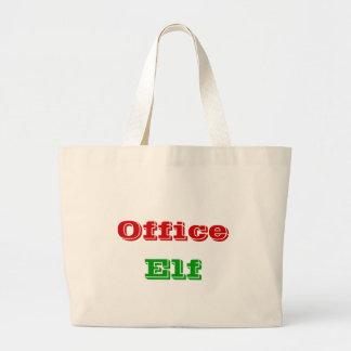 A bolsa de canvas do duende do escritório