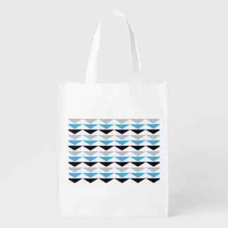 A bolsa de compra reusável do impressão geométrico sacola reusável