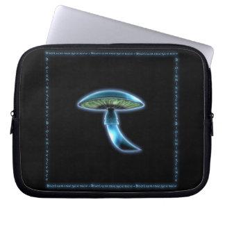 A bolsa de laptop azul de incandescência de Sci Fi Capa Para Notebook