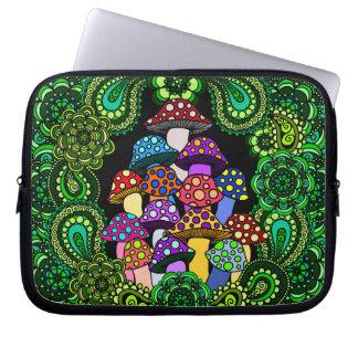 A bolsa de laptop colorida dos cogumelos capas de computadores notebooks
