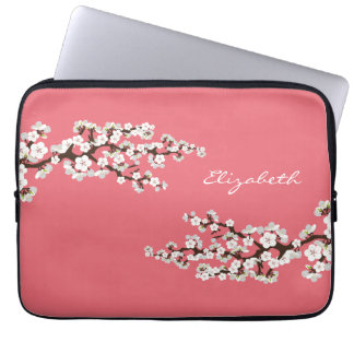 A bolsa de laptop de Sakura das flores de Capas Para Laptop