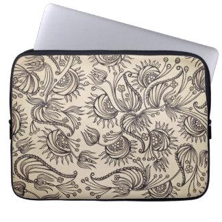 A bolsa de laptop decorativa do teste padrão capas para computadores