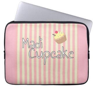 A bolsa de laptop do cupcake capa para laptop