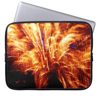 A bolsa de laptop do fogo-de-artifício capa para computador