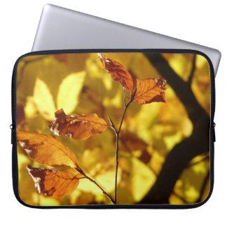A bolsa de laptop do impressão da foto das folhas capas de notebook