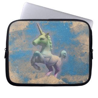 A bolsa de laptop do neopreno do unicórnio (azul capas de computadores notebooks