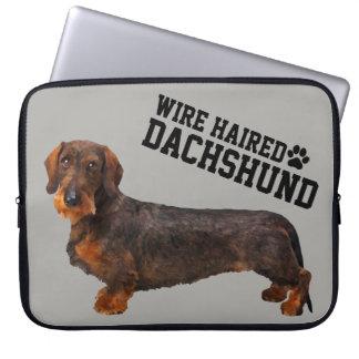 A bolsa de laptop ilustrada do fio Dachshund de Capa De Notebook
