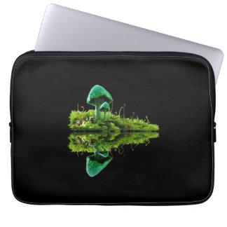 A bolsa de laptop Mossy do fungo do cogumelo do Sleeve Para Laptop