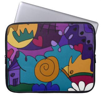 A bolsa de laptop original do divertimento capa para computador