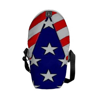 A bolsa mensageiro da bandeira da estrela