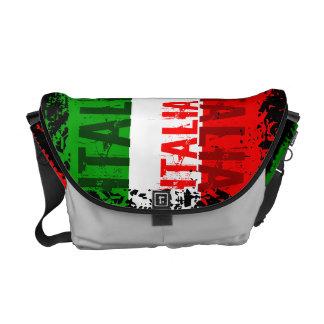 A bolsa mensageiro da bandeira de Italia