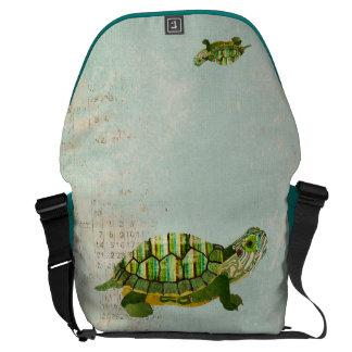 A bolsa mensageiro da tartaruga do jade