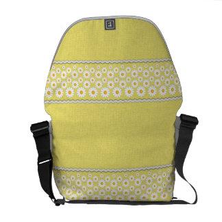 A bolsa mensageiro de Gitta - MED amarelo
