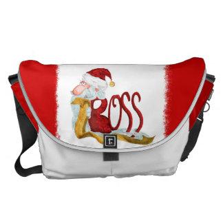 A bolsa mensageiro engraçada do Natal do papai