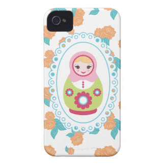 A boneca bonito & a laranja do assentamento do capinhas iPhone 4