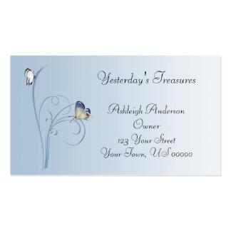A borboleta azul roda cartão de visita
