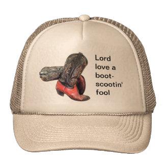 A bota de vaqueiro ocidental engraçada Scoot Boné