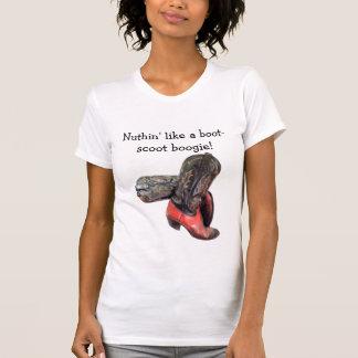 A bota de vaqueiro ocidental engraçada Scoot Camisetas