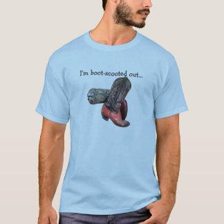 A bota de vaqueiro ocidental engraçada Scoot T-shirt