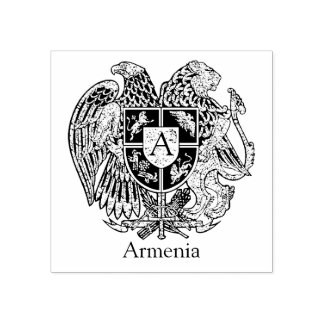 A brasão arménia personaliza carimbo de borracha