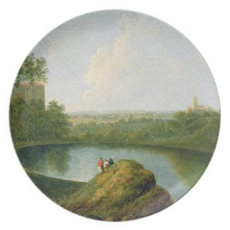 A cabeça do lago Nemi (óleo em canvas) Louças De Jantar
