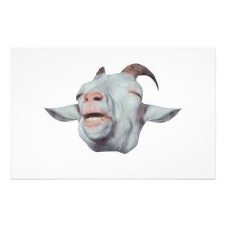 A cabra feliz é desvanecida papelaria
