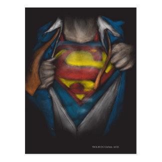 A caixa do superman | revela o esboço Colorized Cartão Postal