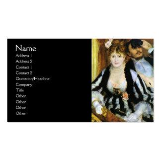 A caixa do teatro por Renoir Modelo Cartoes De Visita