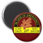 A calma da estada, come o ímã do bacon imã