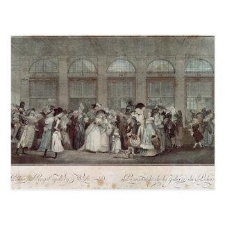 A caminhada da galeria do Palais Royal, 1787 Cartão Postal