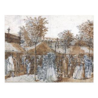 A caminhada do jardim do Palais Royal em 1787 Cartão Postal