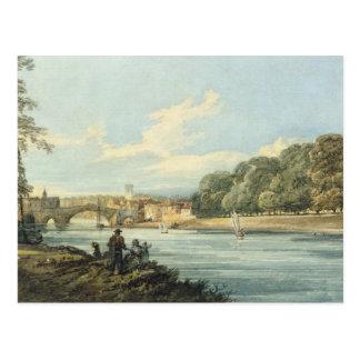 A caminhada nova, York, c.1798 (lápis e w/c no Cartão Postal