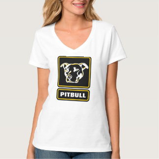 A camisa resistente do logotipo de Pitbull será