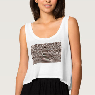 A camisola de alças das mulheres com design regata