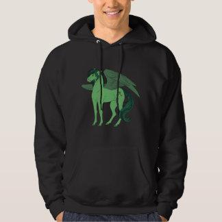 A camisola dos homens negros de Pegasus do sótão Moletom