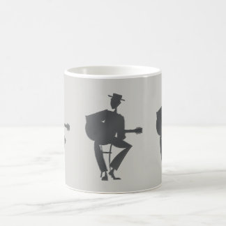 A caneca de café do guitarrista