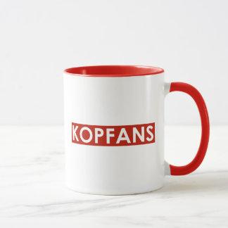 A caneca de Kopfans - guarnição vermelha