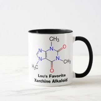 A caneca de viciado de cafeína