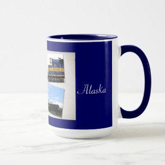 A caneca do Alasca da estrada de ferro