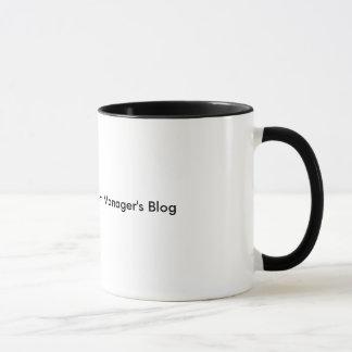 A caneca do blogue do gerente do apartamento