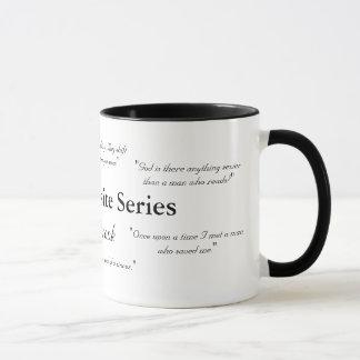 A caneca requintado das citações da série