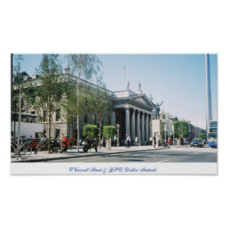 A capital Dublin de Ireland, rua de O'Connell Poster