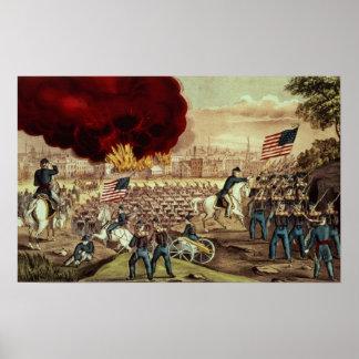 A captação de Atlanta pelo exército de união Poster