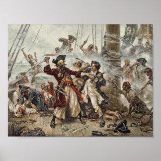 A captação de Blackbeard o pirata Poster